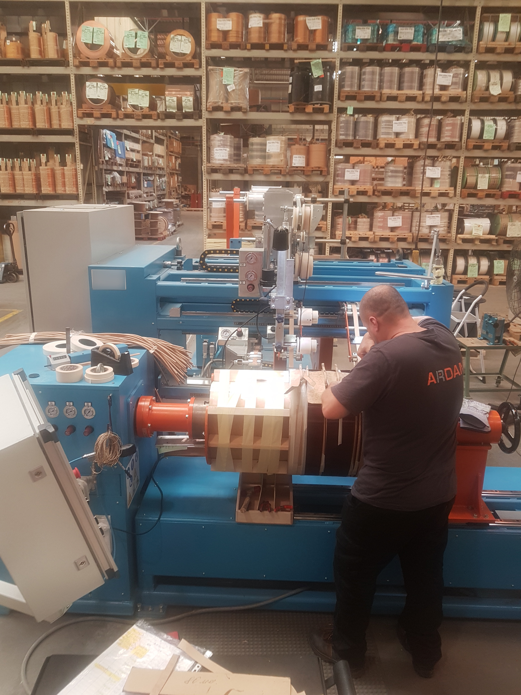 Ardan Invested in a new wire winding machine for distribution transformers